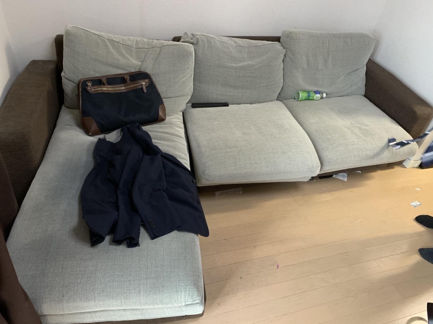ソファーの回収前
