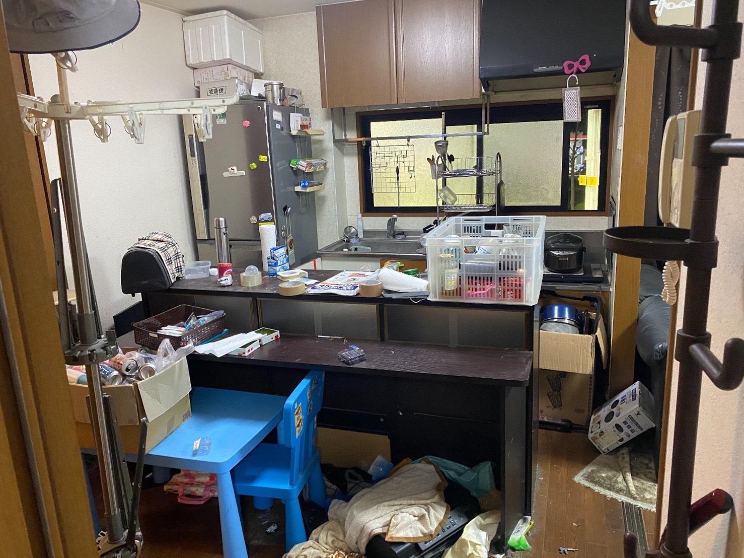 冷蔵庫やその他キッチン家電・家具の回収前
