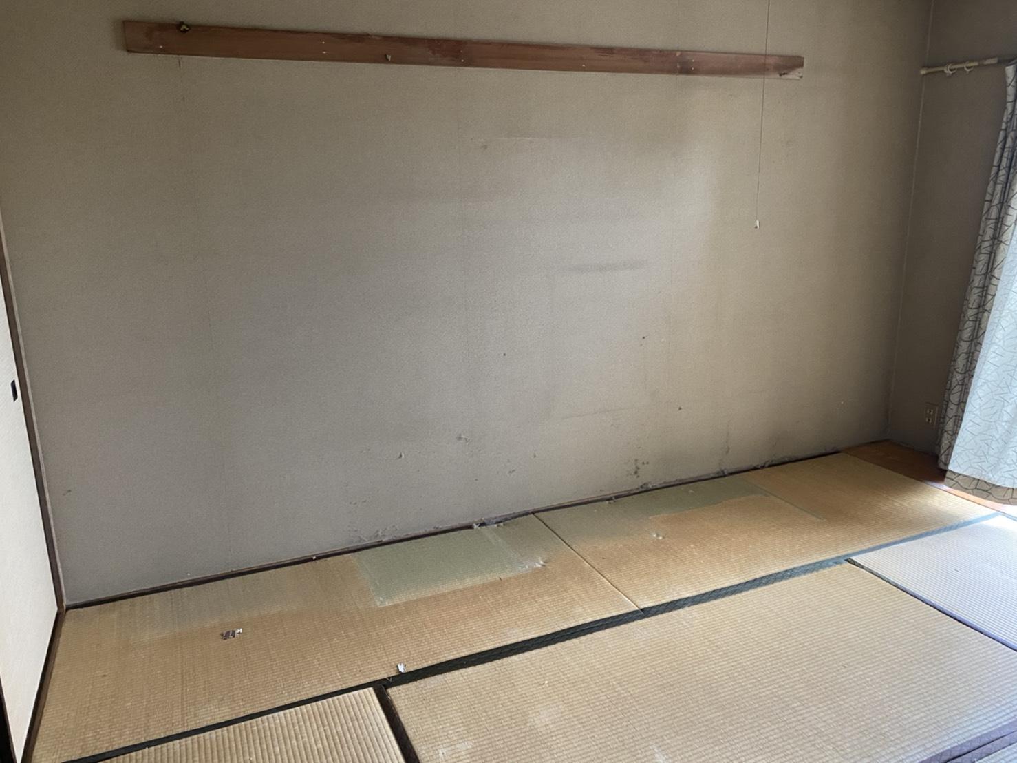 仏壇、本棚、その他不用品の回収後