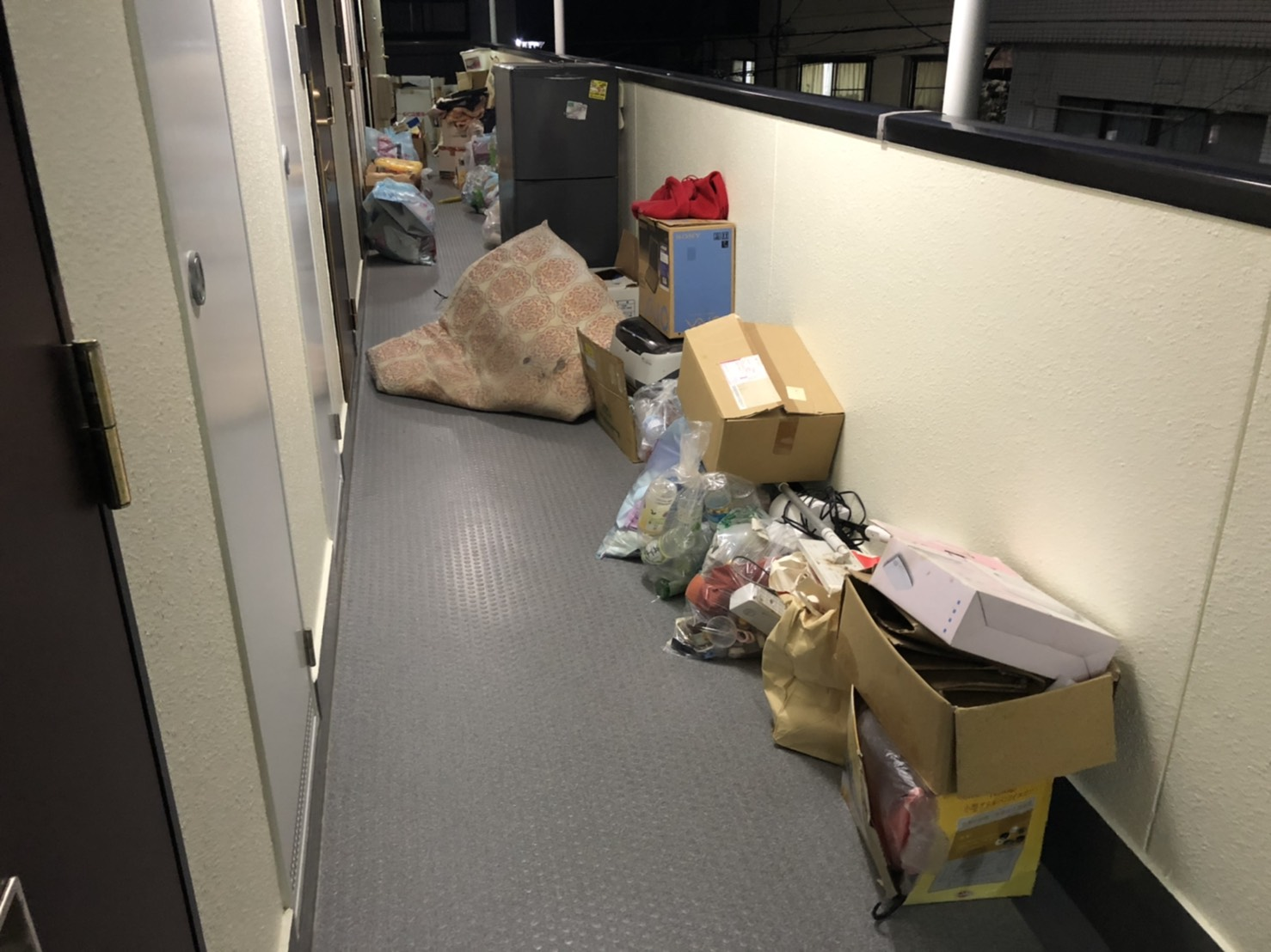 冷蔵庫、布団、その他不用品の回収前