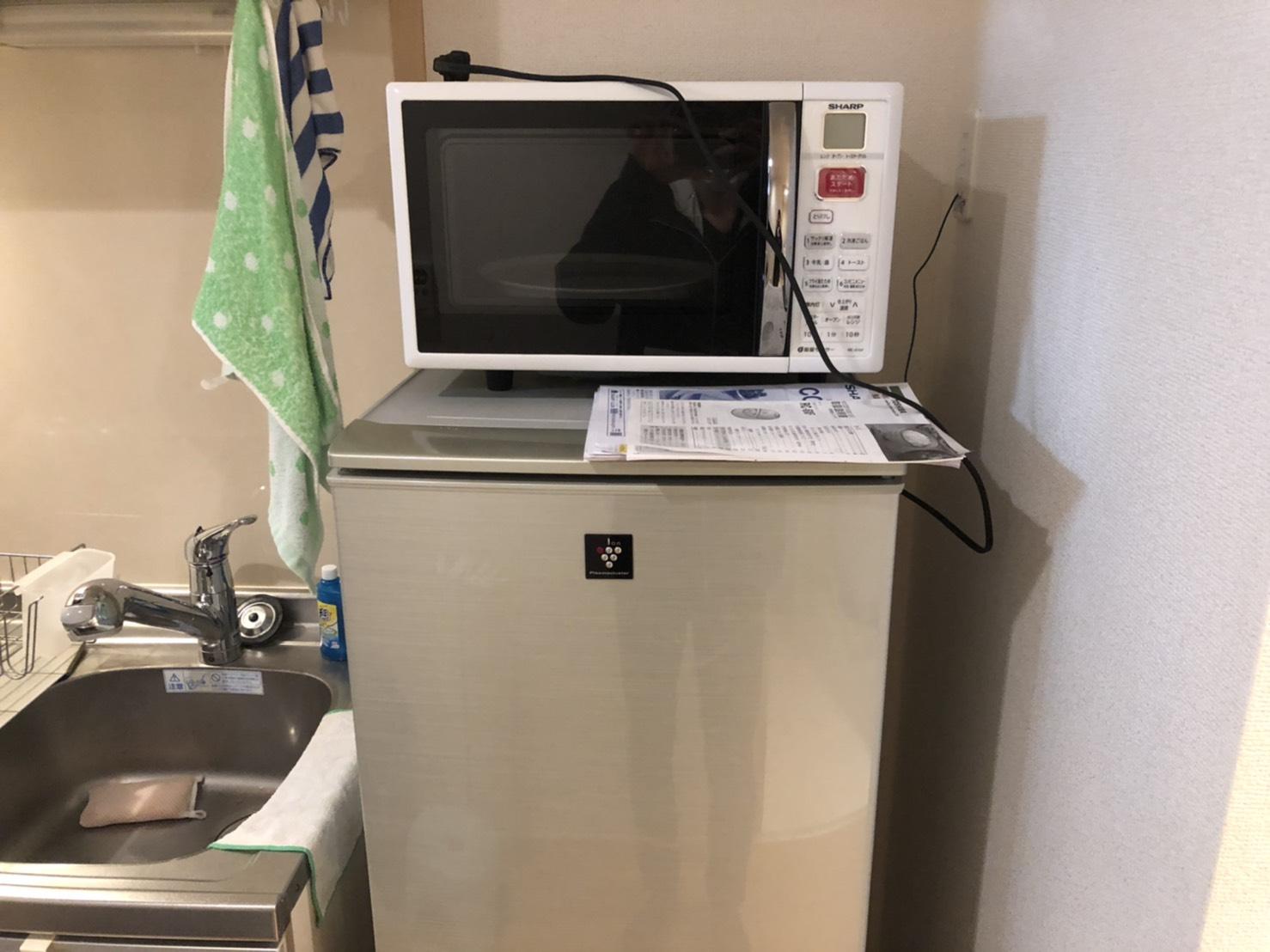 電子レンジ、冷蔵庫の回収前