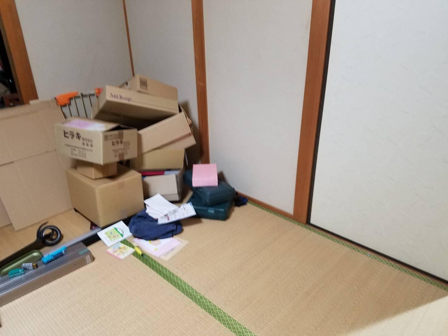 衣類や雑貨類の回収後