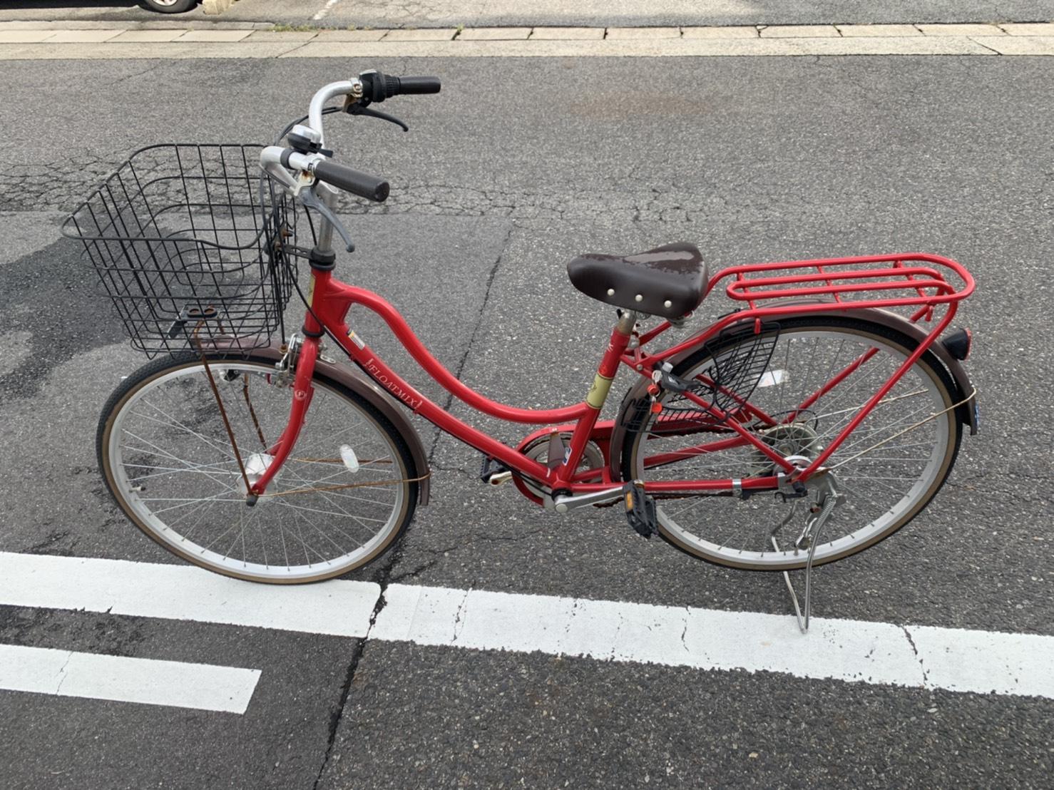 自転車の回収前