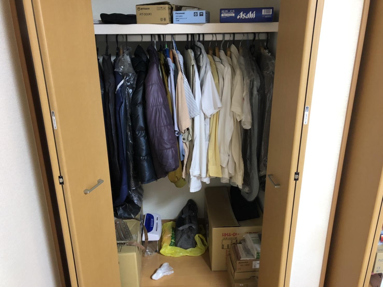 衣類の回収前