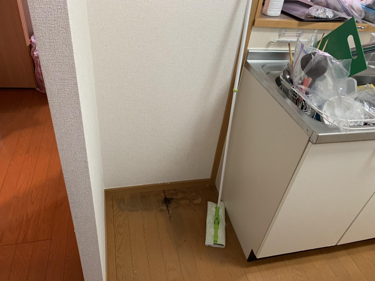冷蔵庫の回収後