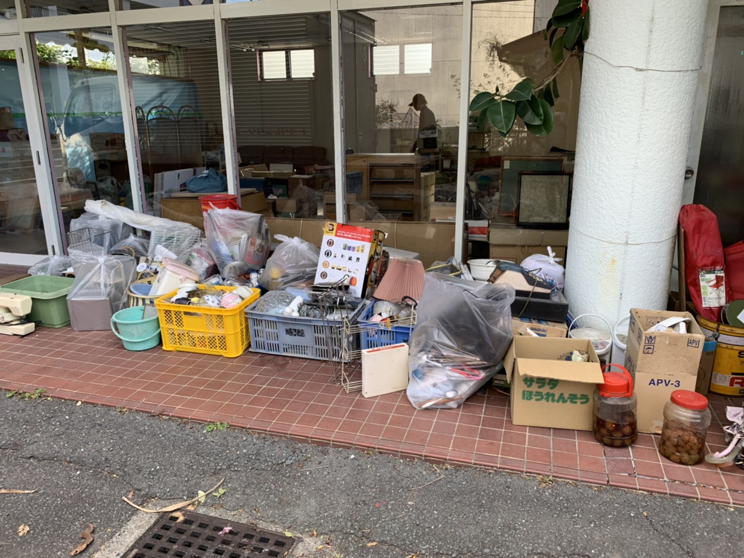 事業ゴミの回収前