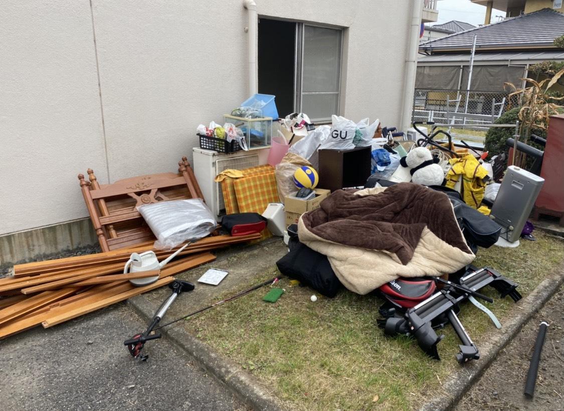 家具などの不用品の回収前