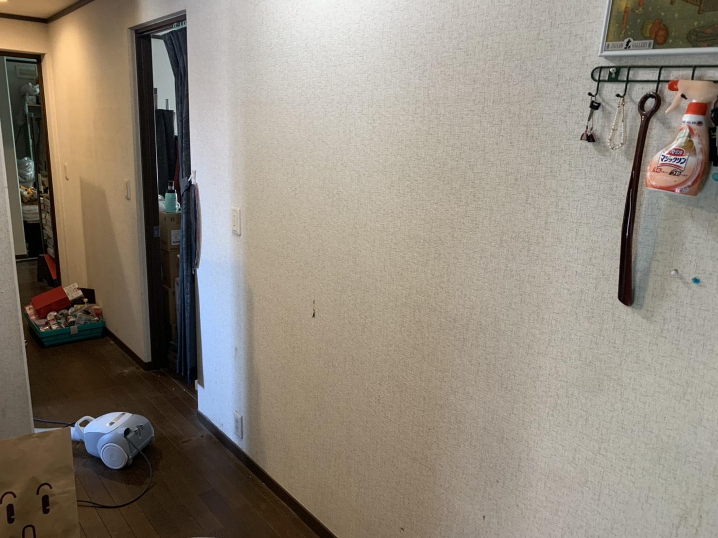 棚、電話機、その他不用品の回収後