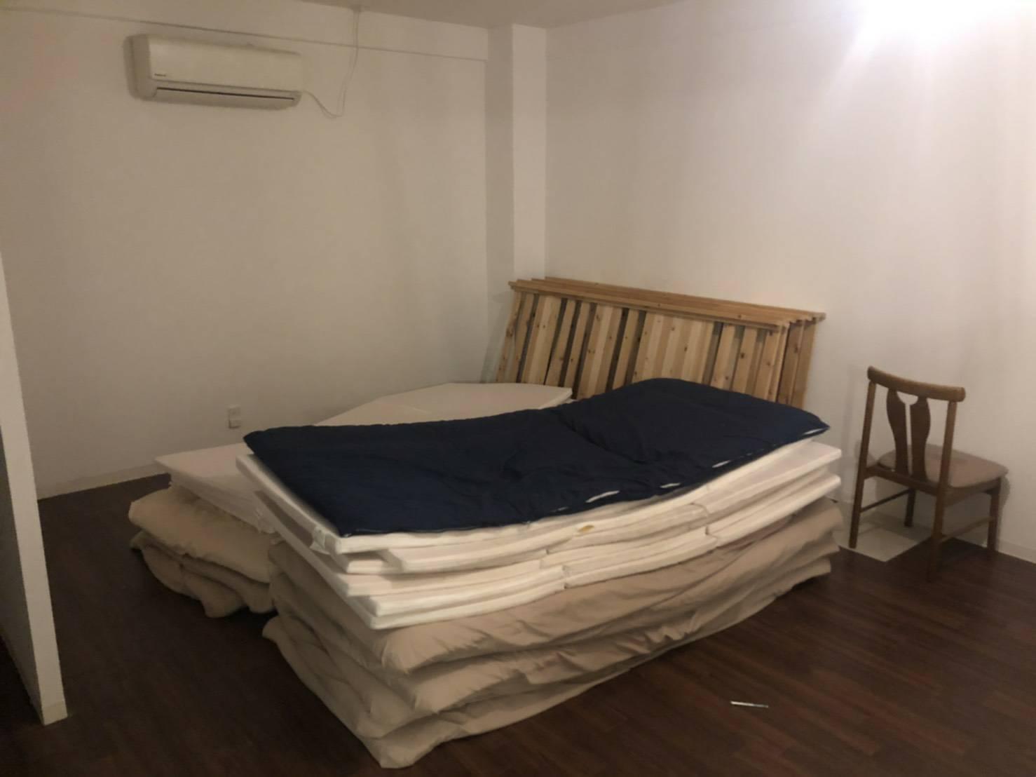 マットレス、家具の回収前