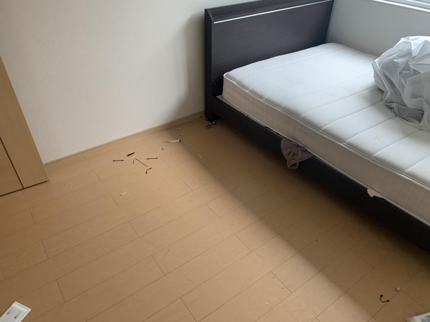 ベッドの回収後