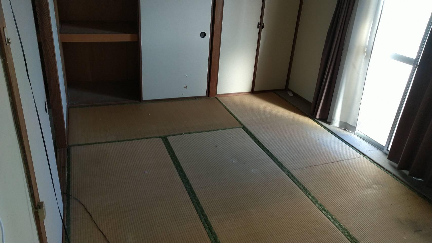 ベッド、マットレス、布団の回収後