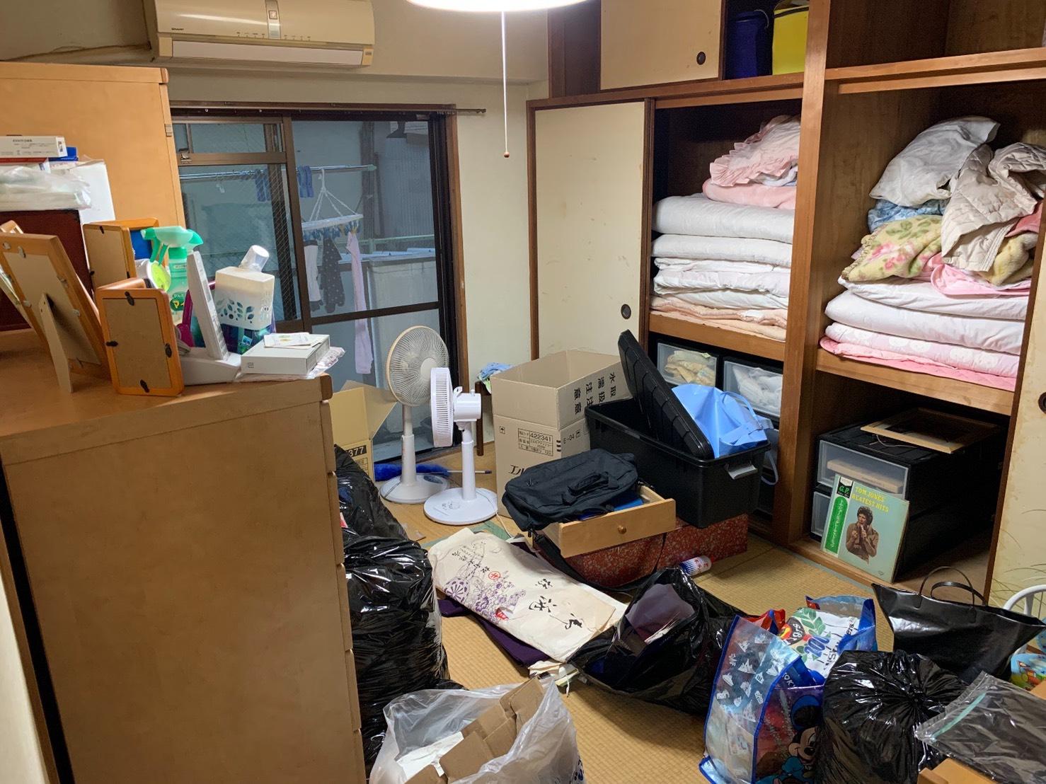 布団、タンス、その他不用品の回収前