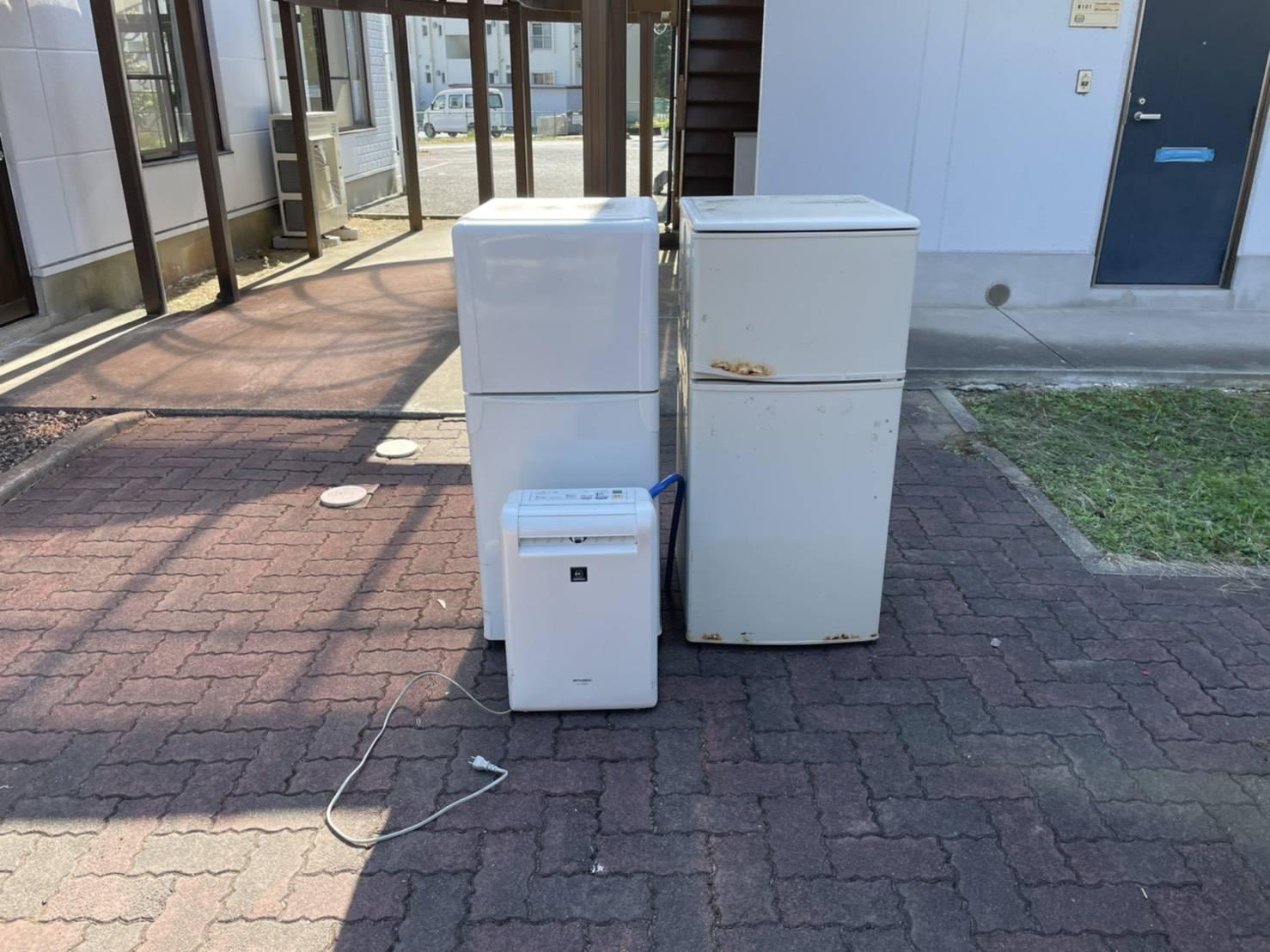 冷蔵庫、空気清浄機の回収前