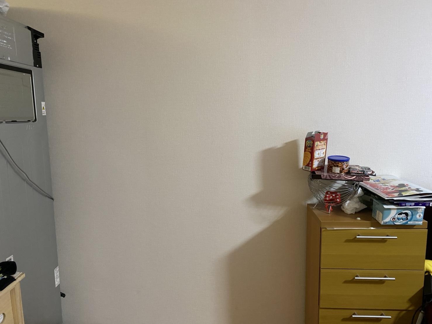 食器棚、食器の回収後