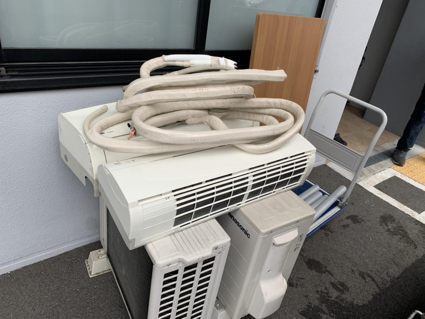 エアコン、室外機の回収前