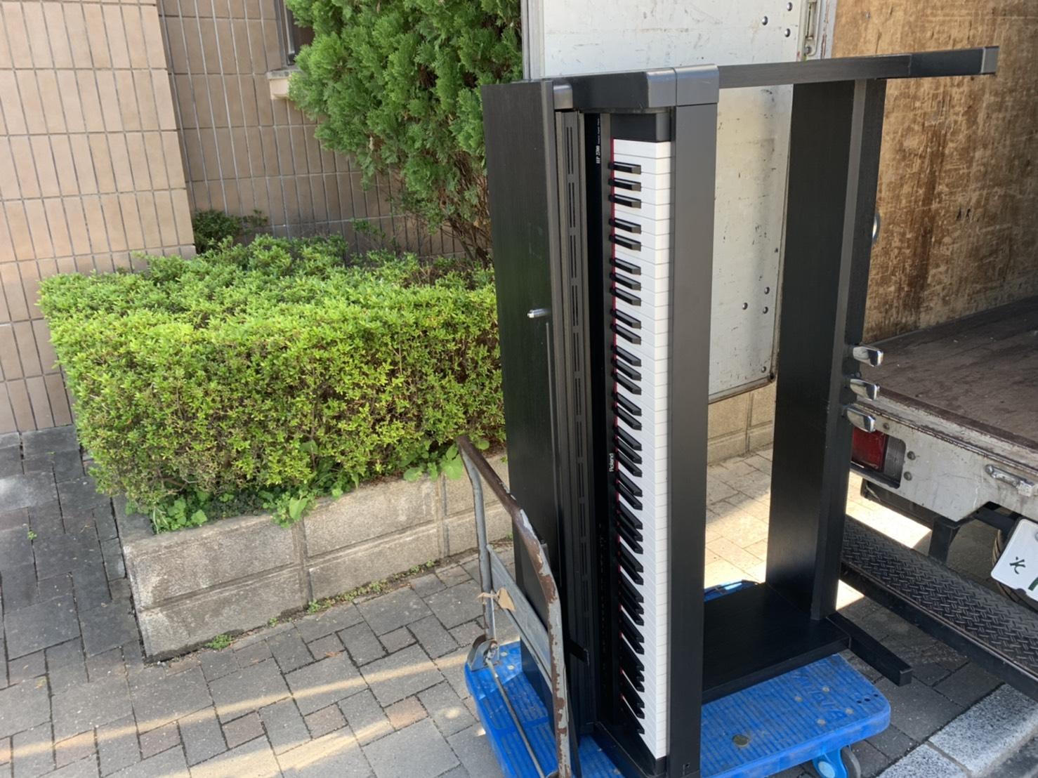 電子ピアノの回収前