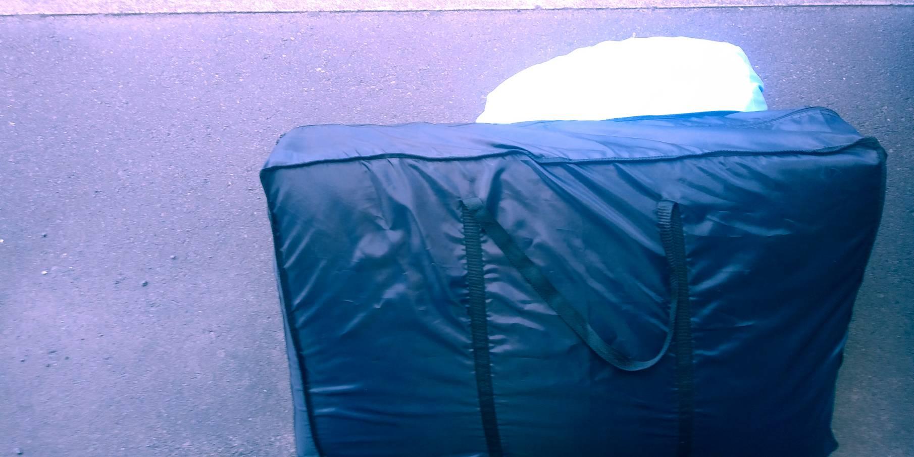 布団、毛布の回収前
