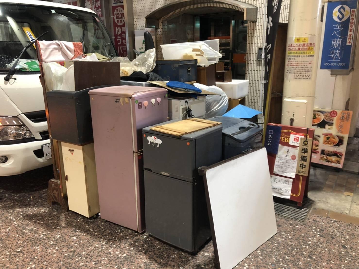 冷蔵庫や電子レンジなど、その他不用品の回収前