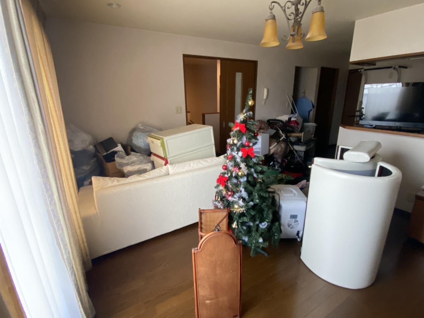 クリスマスツリー、収納、その他不用品の回収前