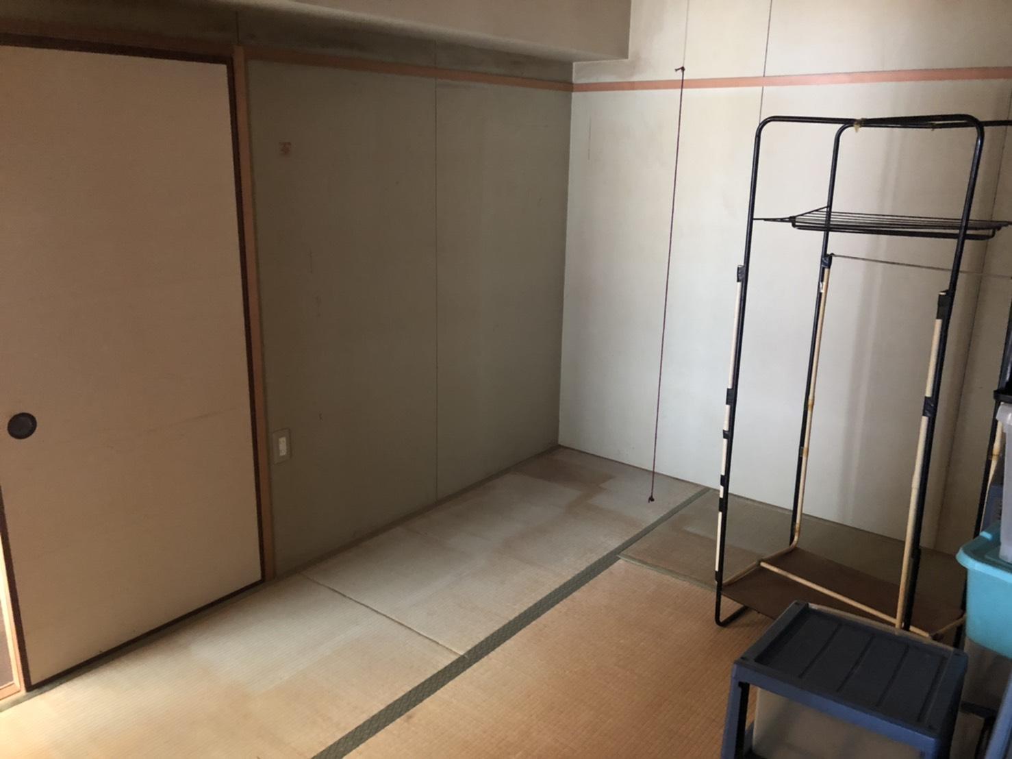 タンス、テーブル、クローゼット、収納棚の回収後