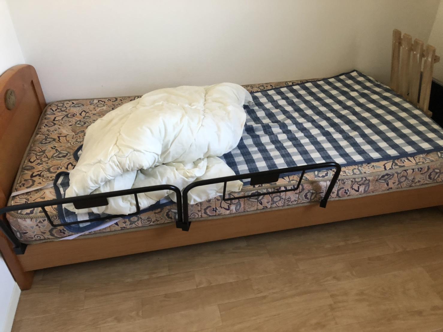 神奈川県横須賀市のベッドの回収前