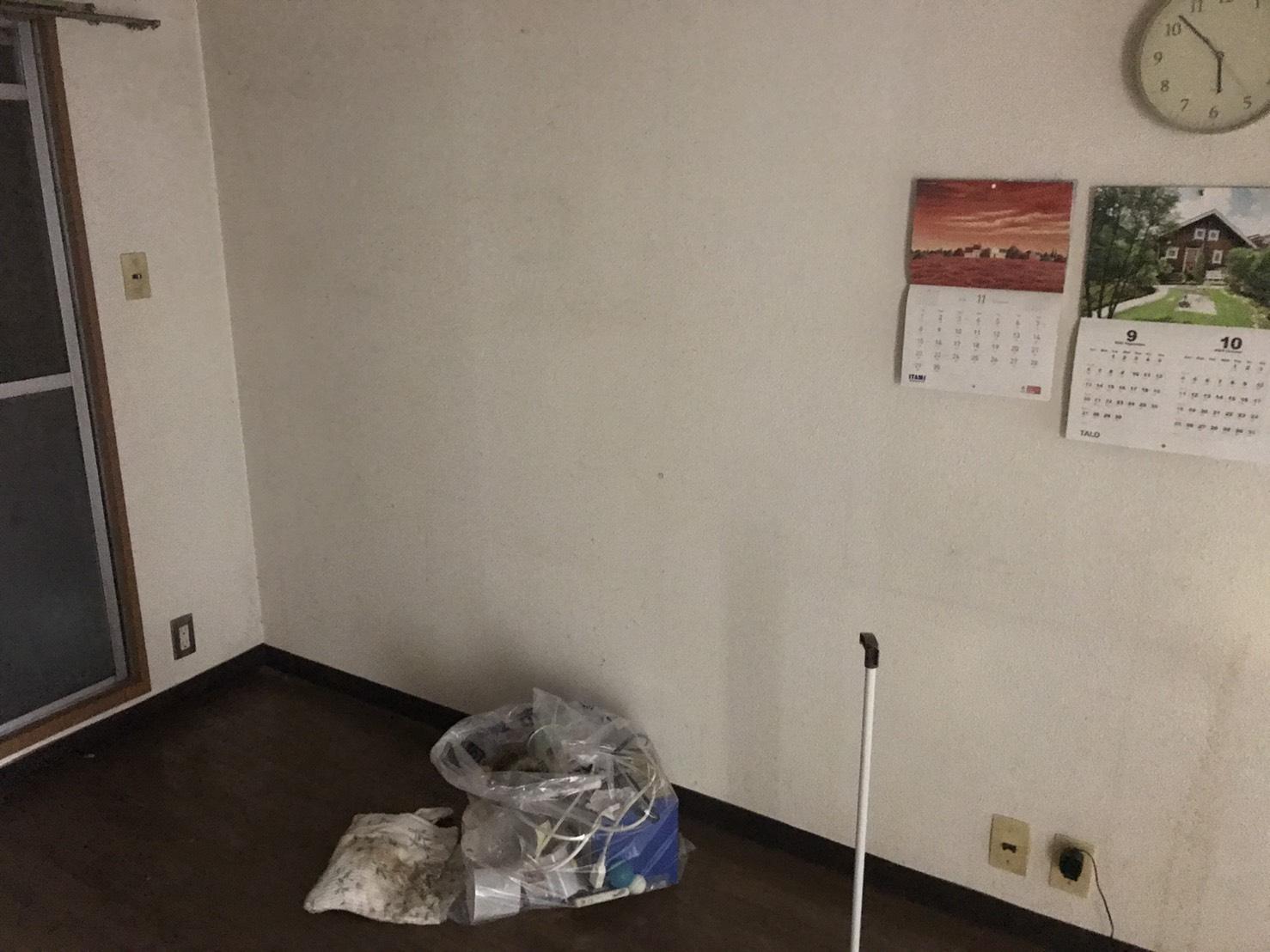 滋賀県大津市の架電ボードの回収後