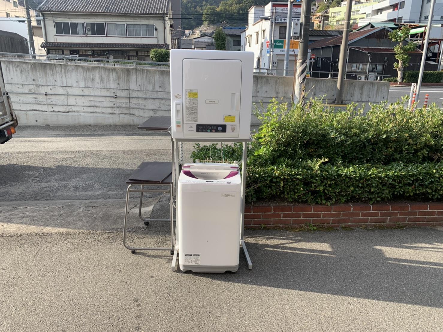 洗濯機、乾燥機の回収前