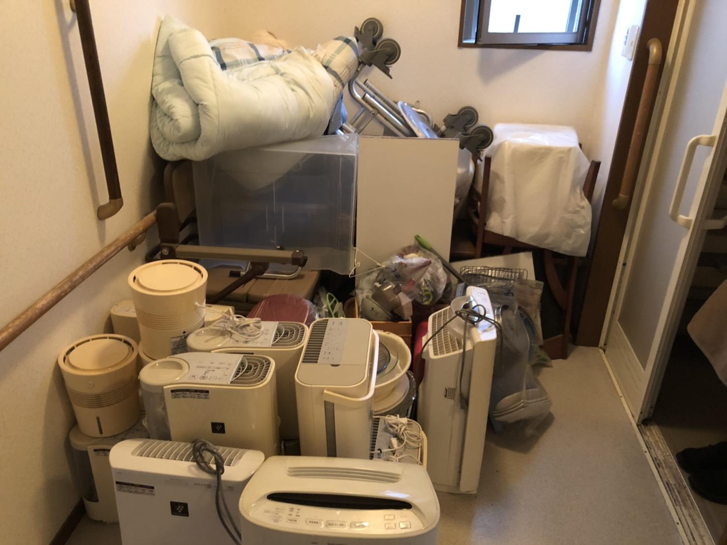空気清浄機、布団などの不用品の回収前