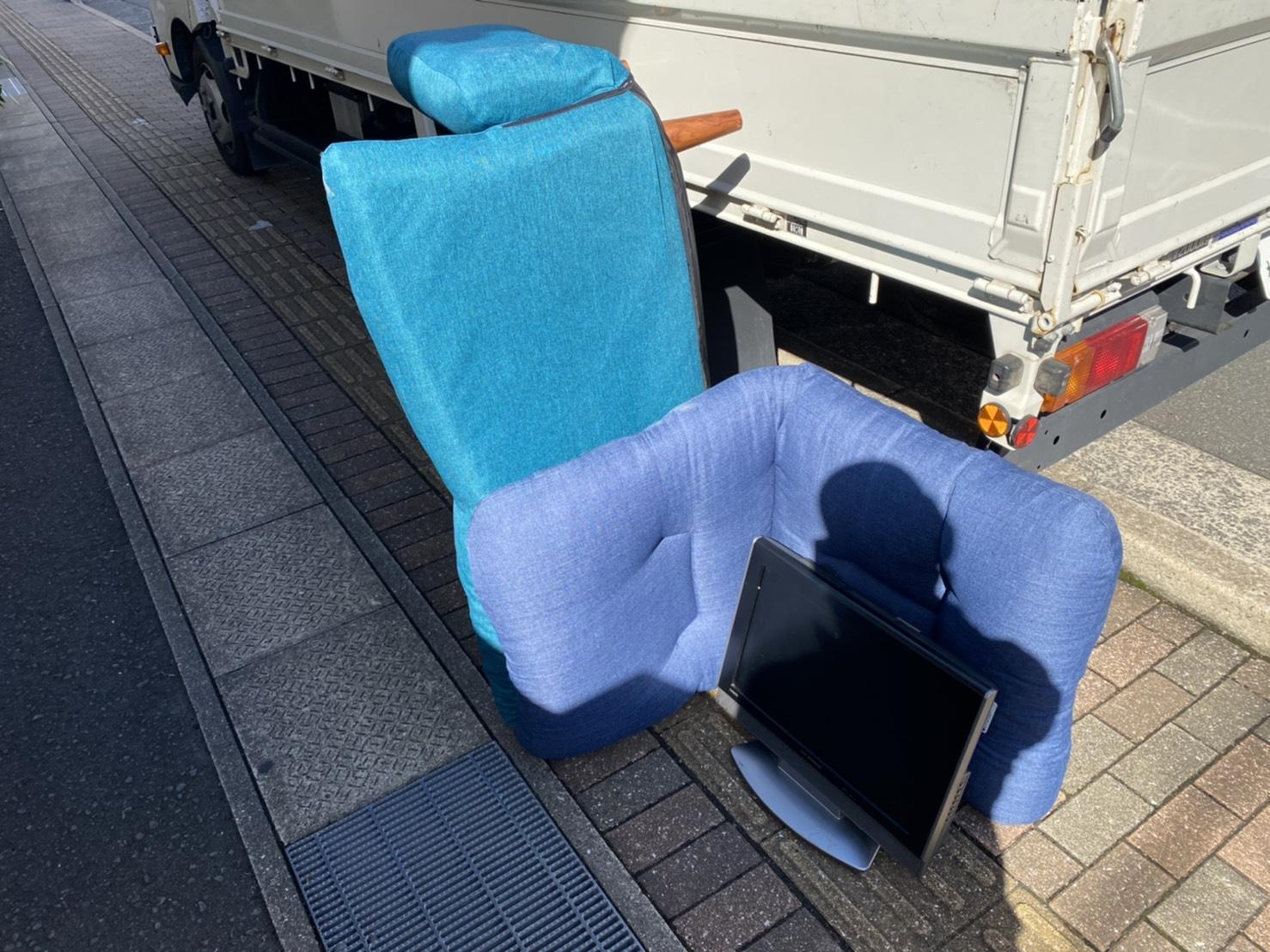 長崎県長崎市のリクライニングチェアの回収前