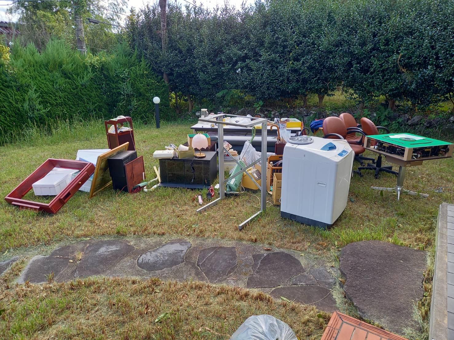 洗濯機、麻雀卓、その他不用品の回収前