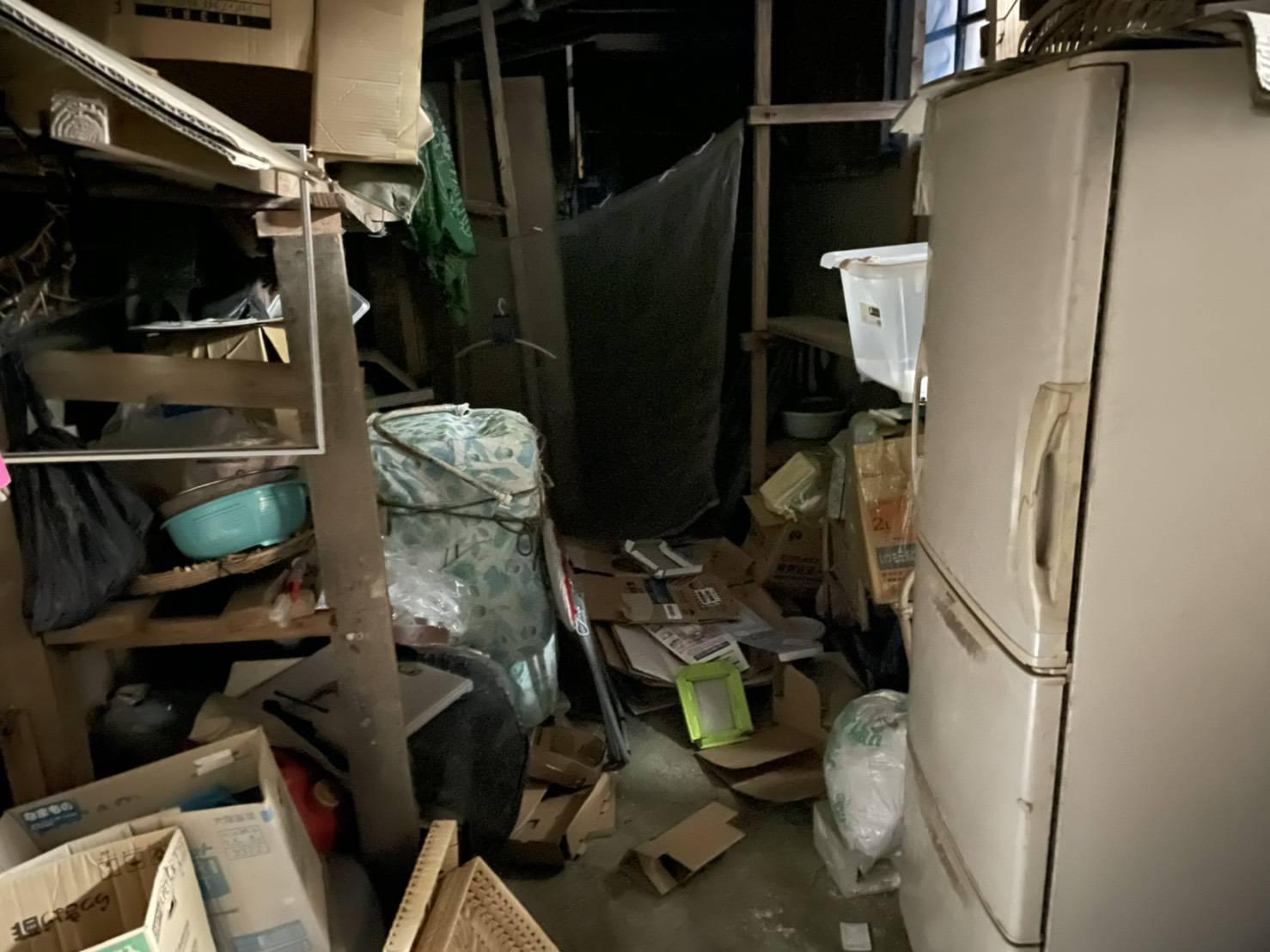 冷蔵庫、その他大量の不用品の回収前