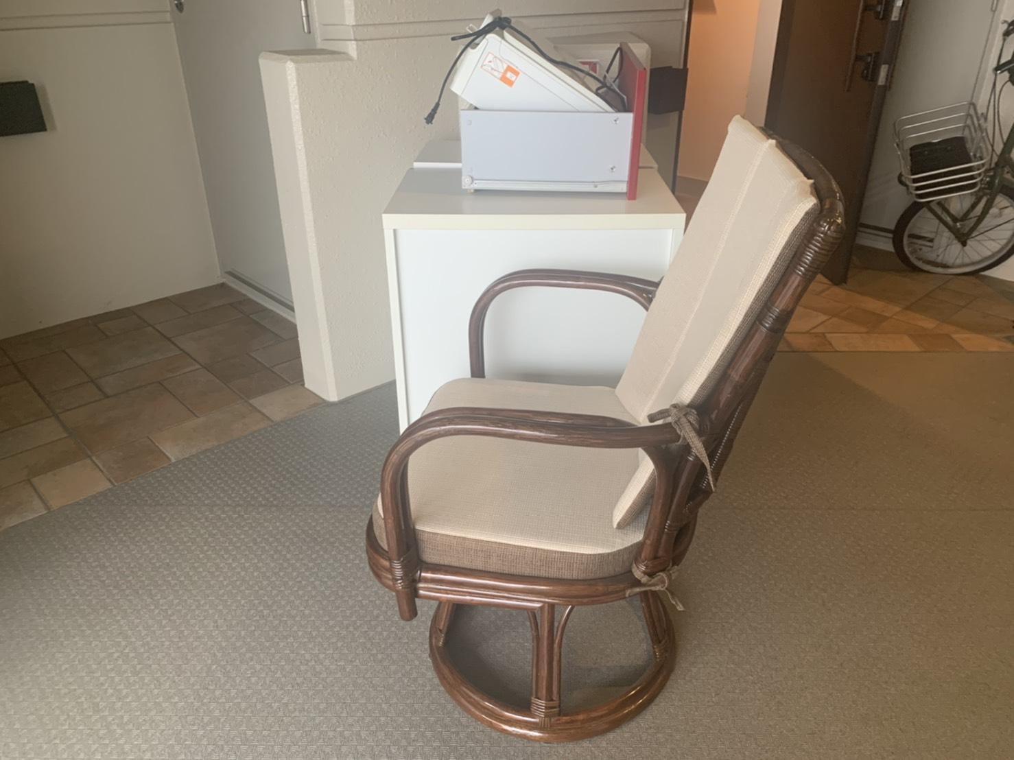 椅子、棚の回収前