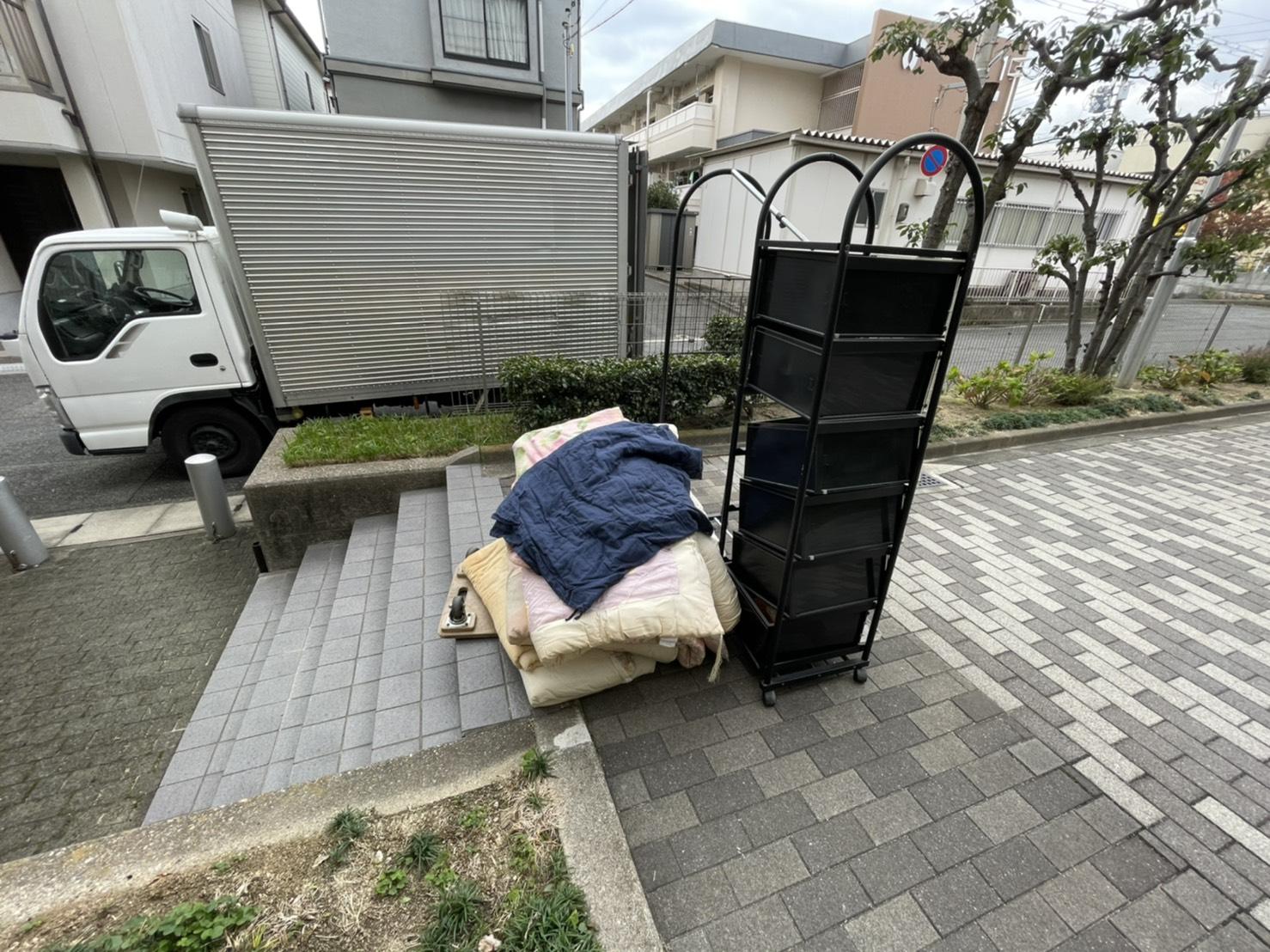 兵庫県神戸市のワゴンの回収前