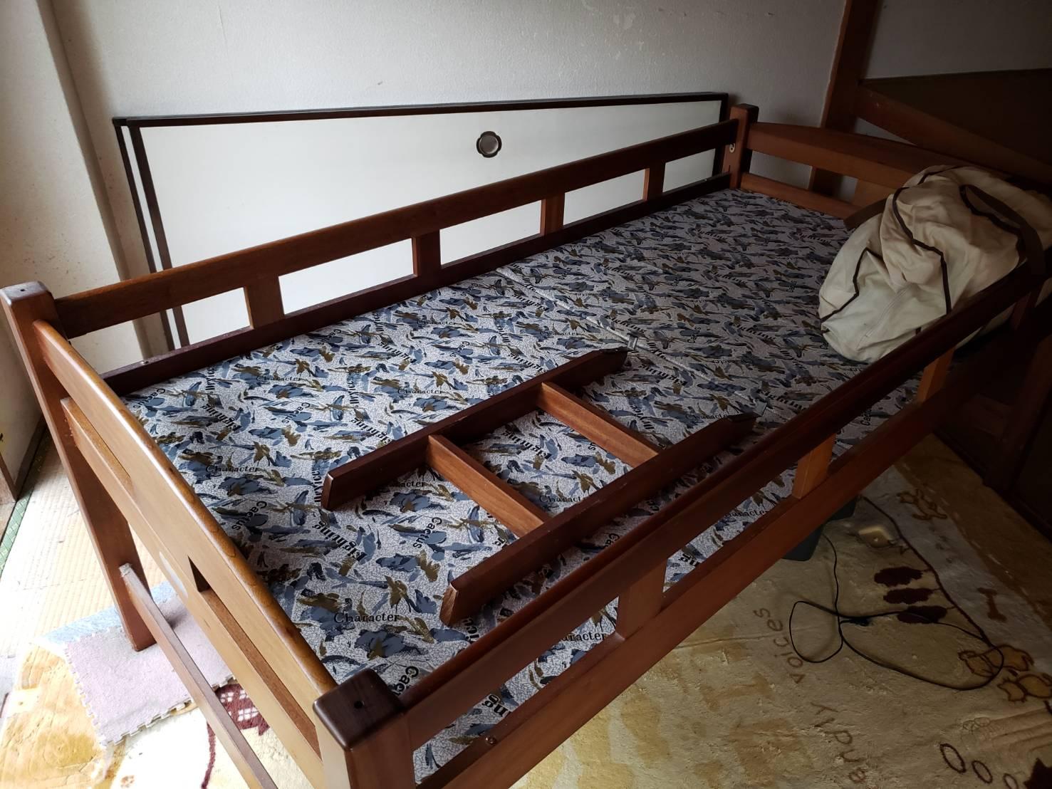 千葉県松戸市のベッドの回収前
