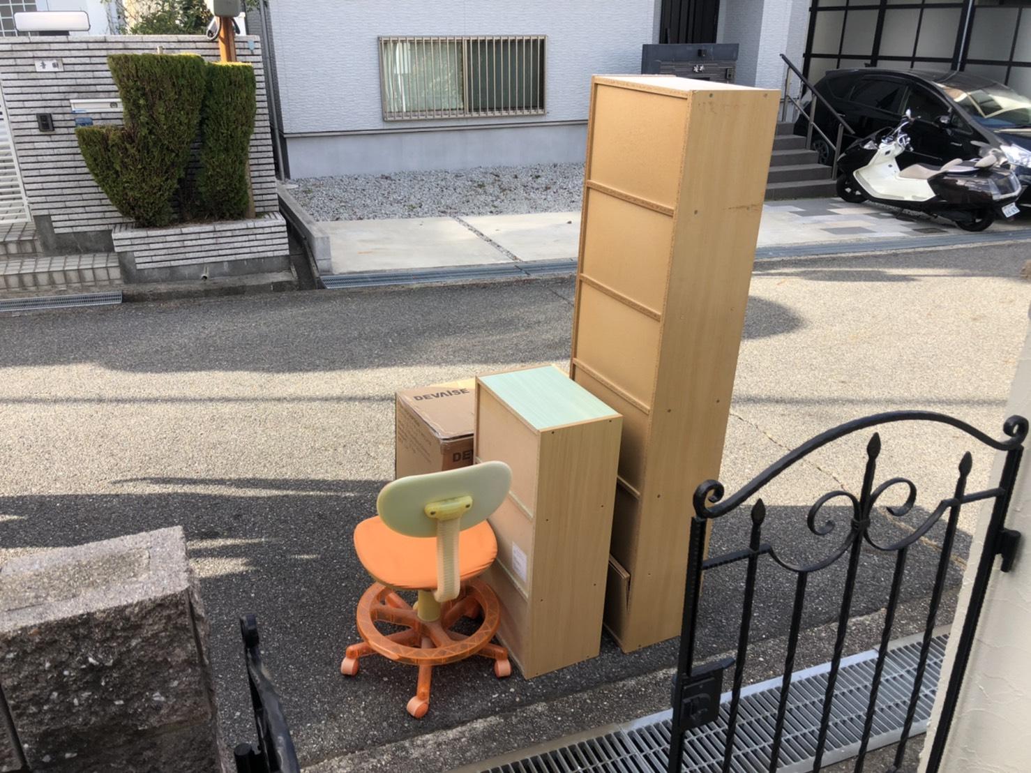 兵庫県神戸市のカラーボックスの回収前