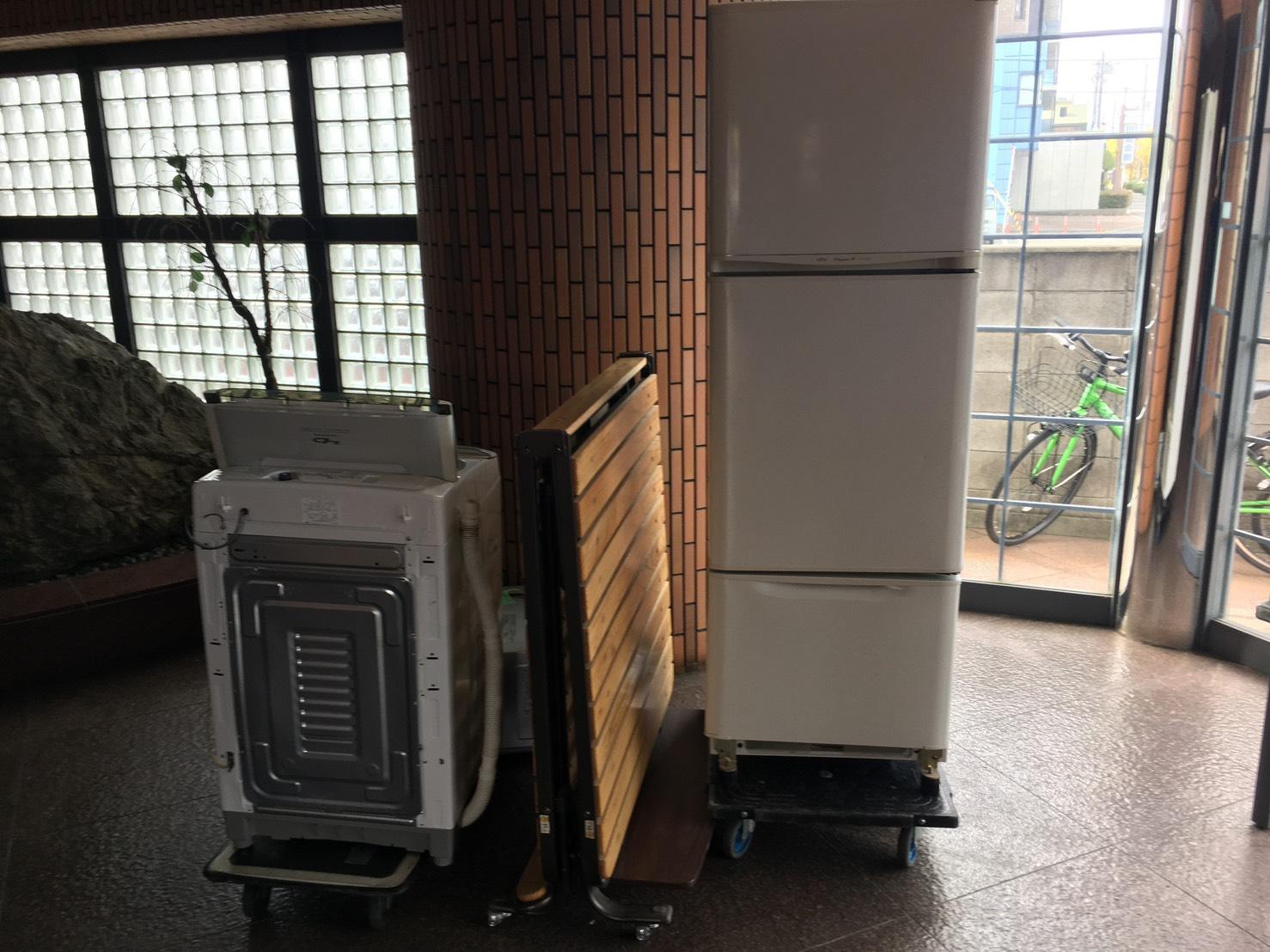 冷蔵庫、洗濯機の回収前