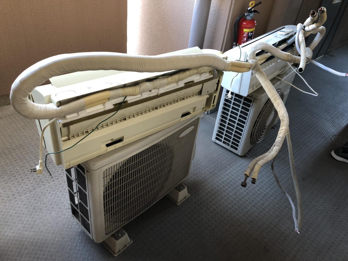 エアコン・室外機の回収前