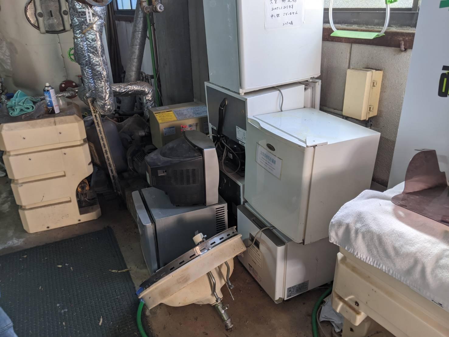 テレビ・冷蔵庫・その他不用品の回収前