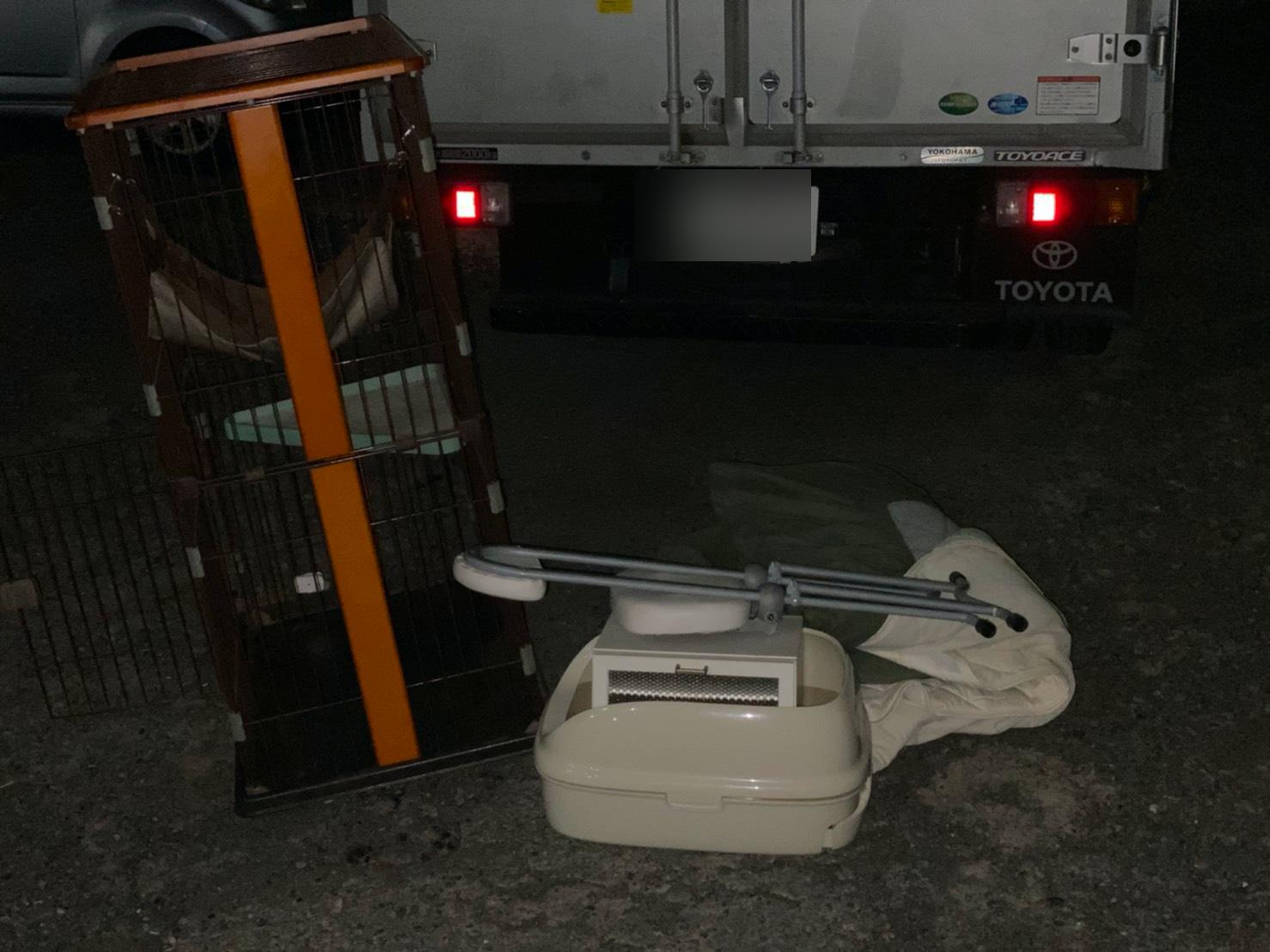 神奈川県横浜市の犬小屋・ペットゲージの回収前