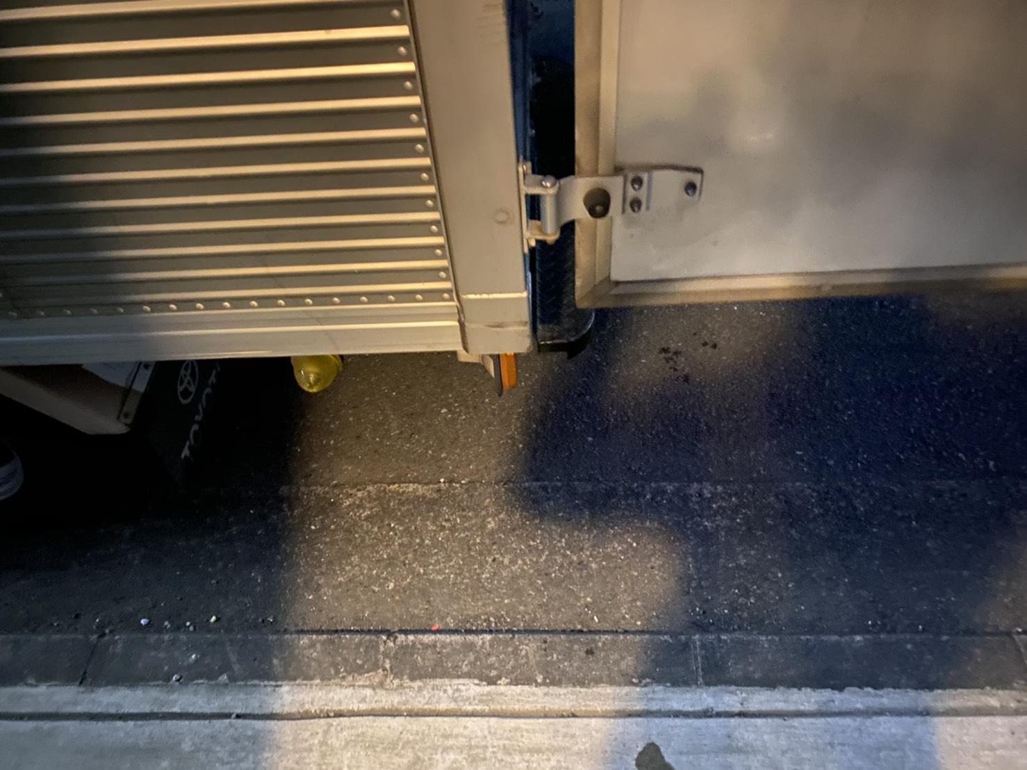 冷蔵庫、ワゴンの回収後