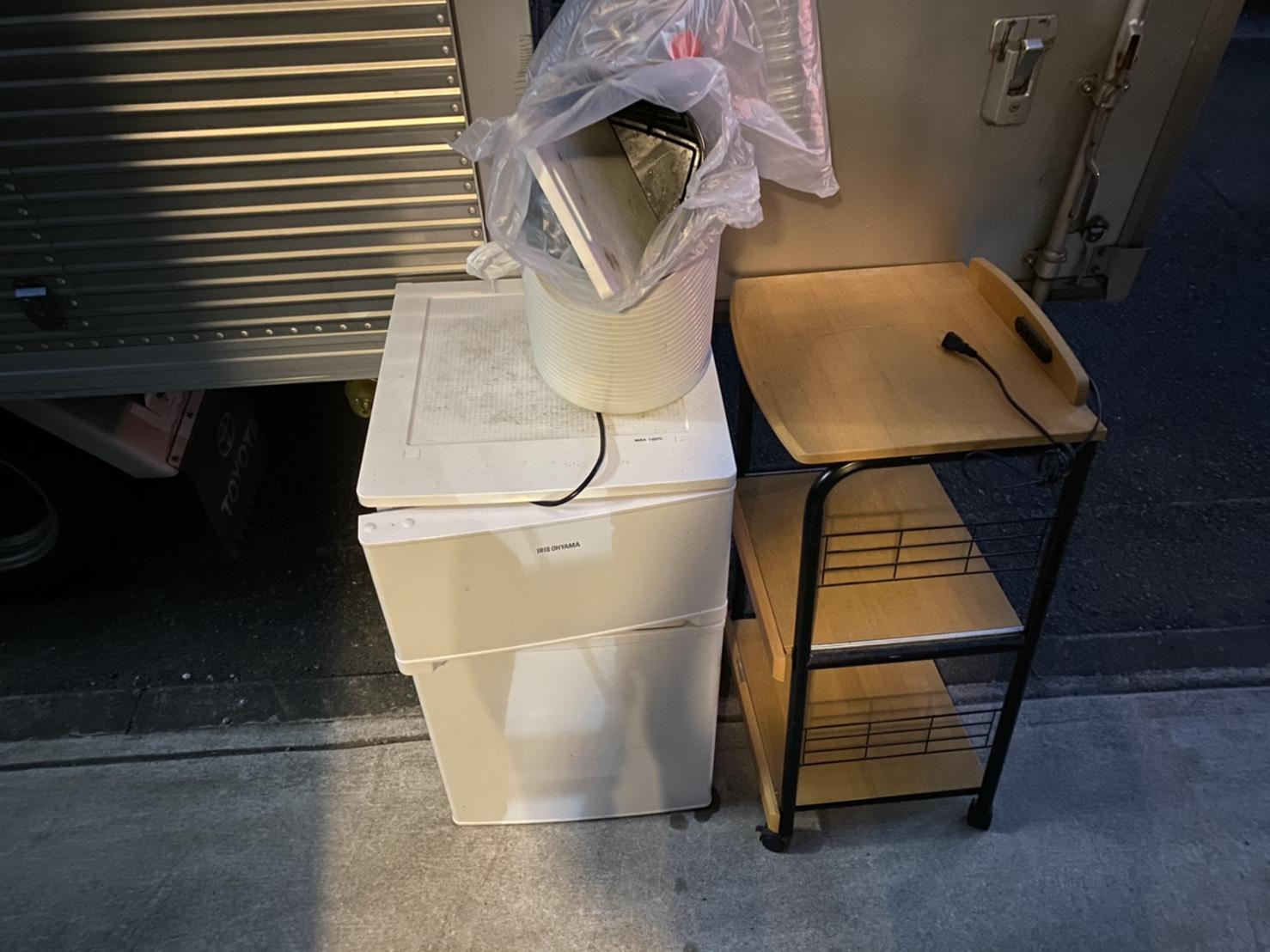 冷蔵庫、ワゴンの回収前