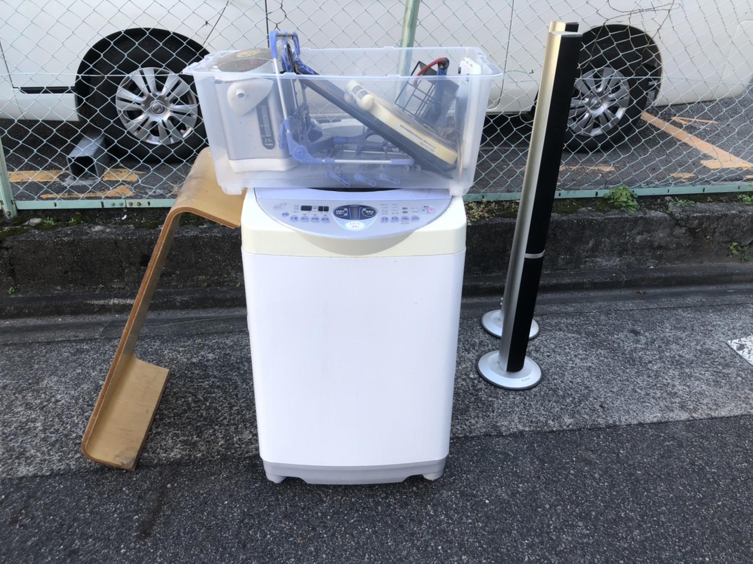 洗濯機、ポット、その他不用品の回収前