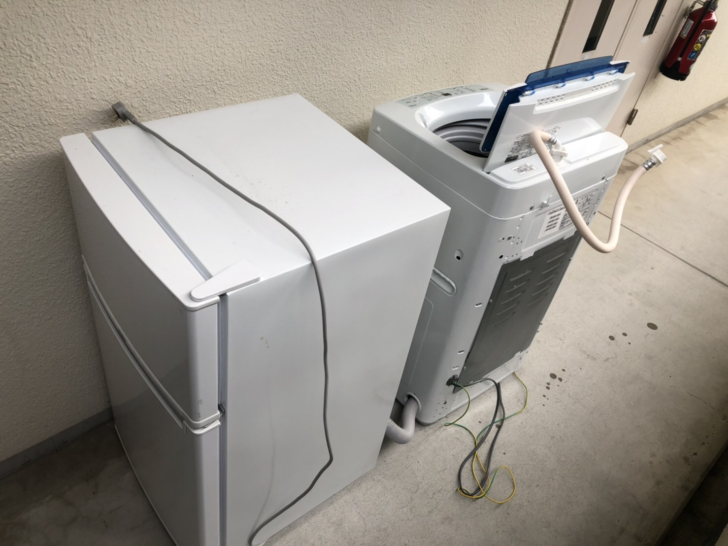 滋賀県草津市の洗濯機の回収前