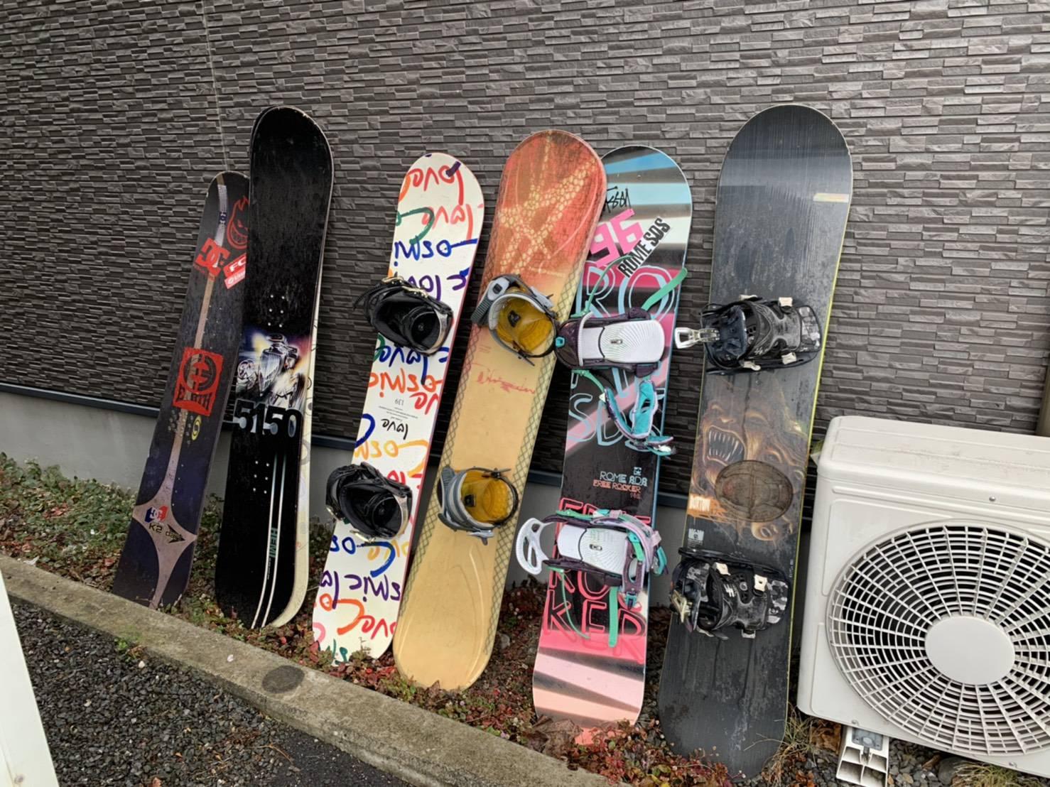 静岡県静岡市のスキー板・スノーボードの回収前