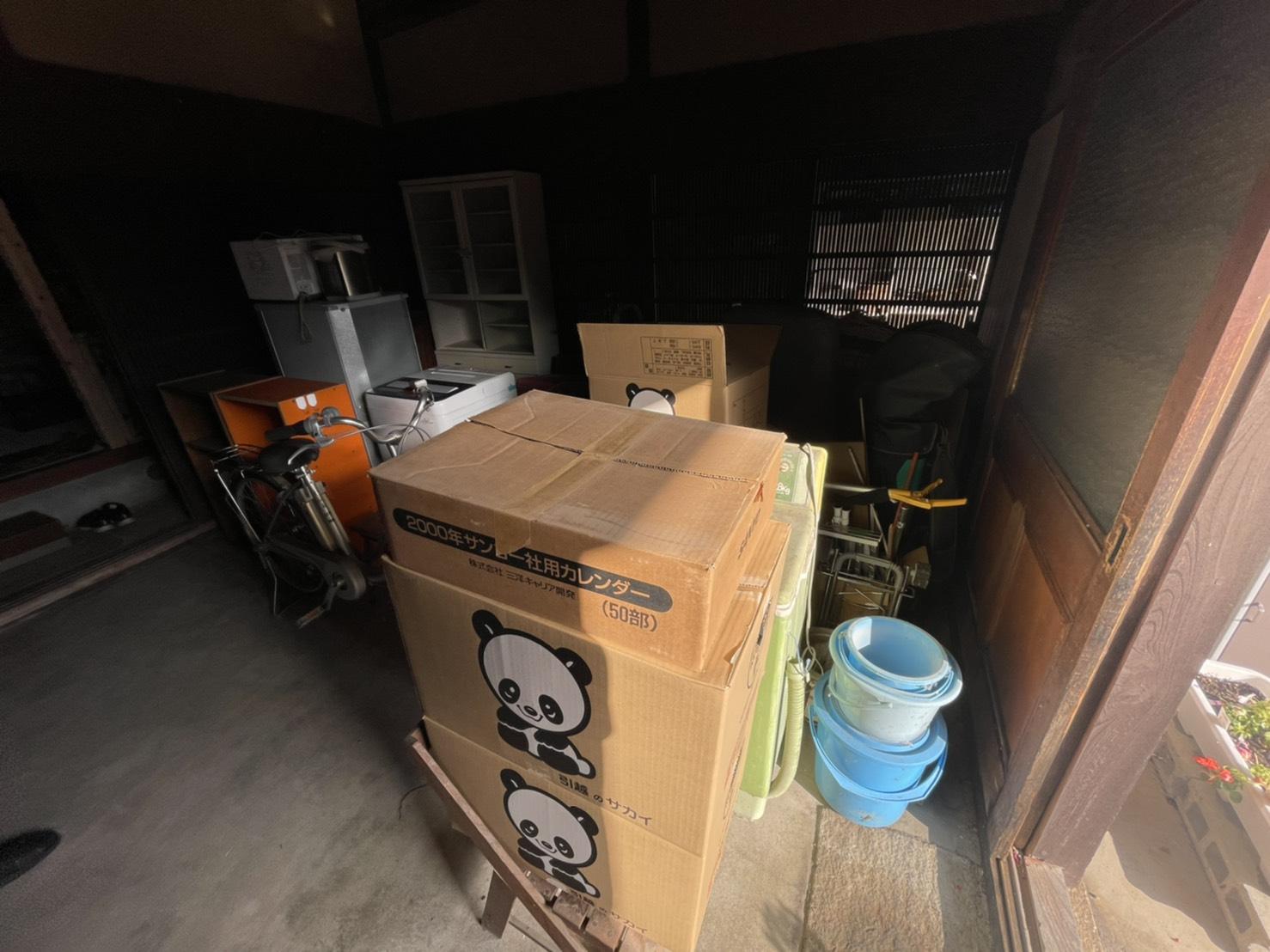 洗濯機、冷蔵庫、自転車の回収前