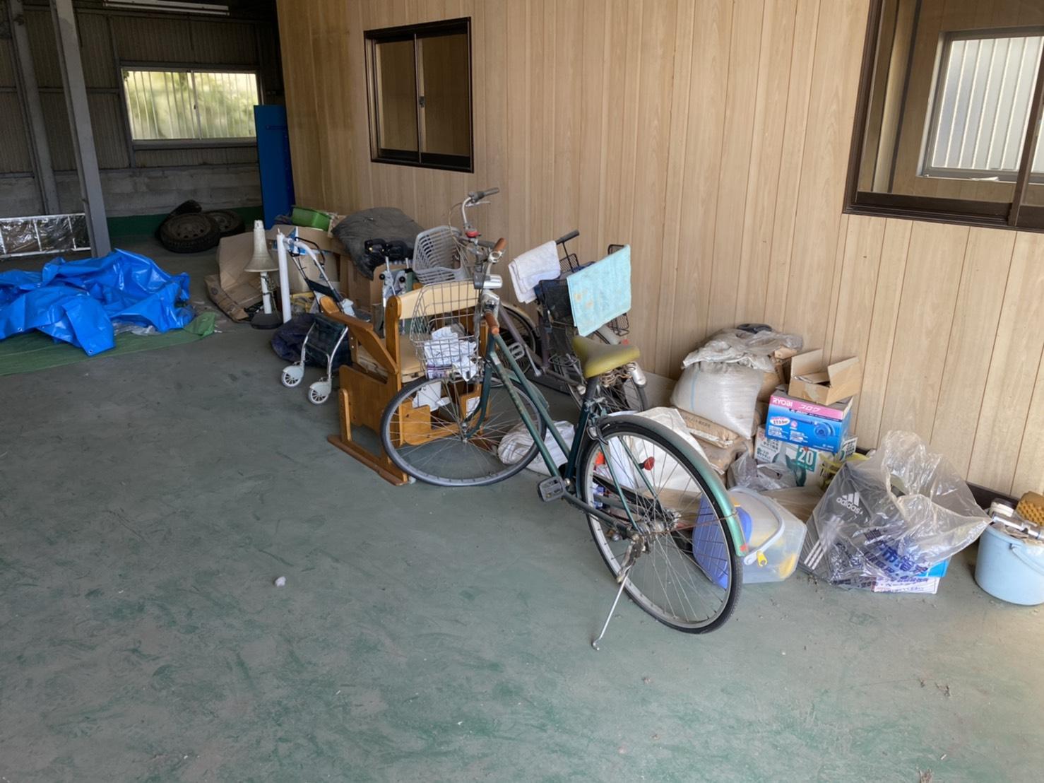 自転車、その他不用品の回収前