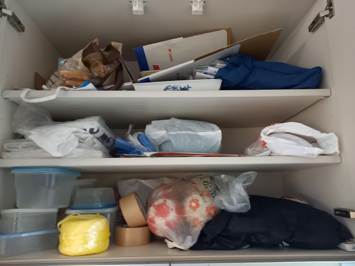 雑貨、その他不用品の回収前