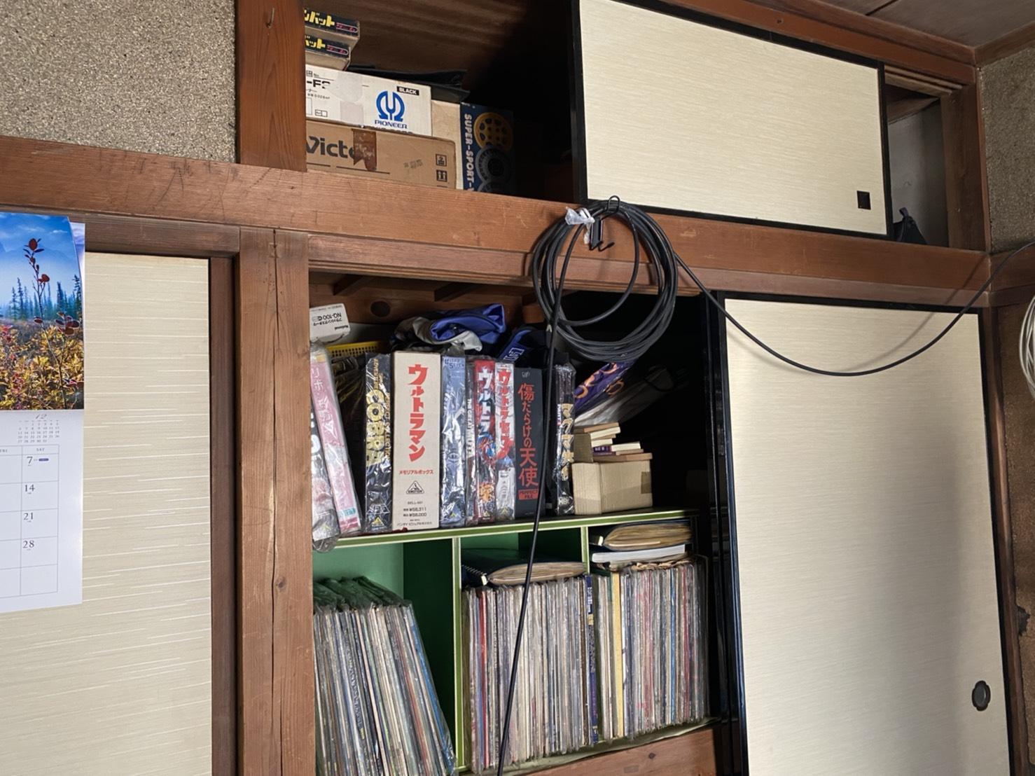 ビデオテープ、本の回収前