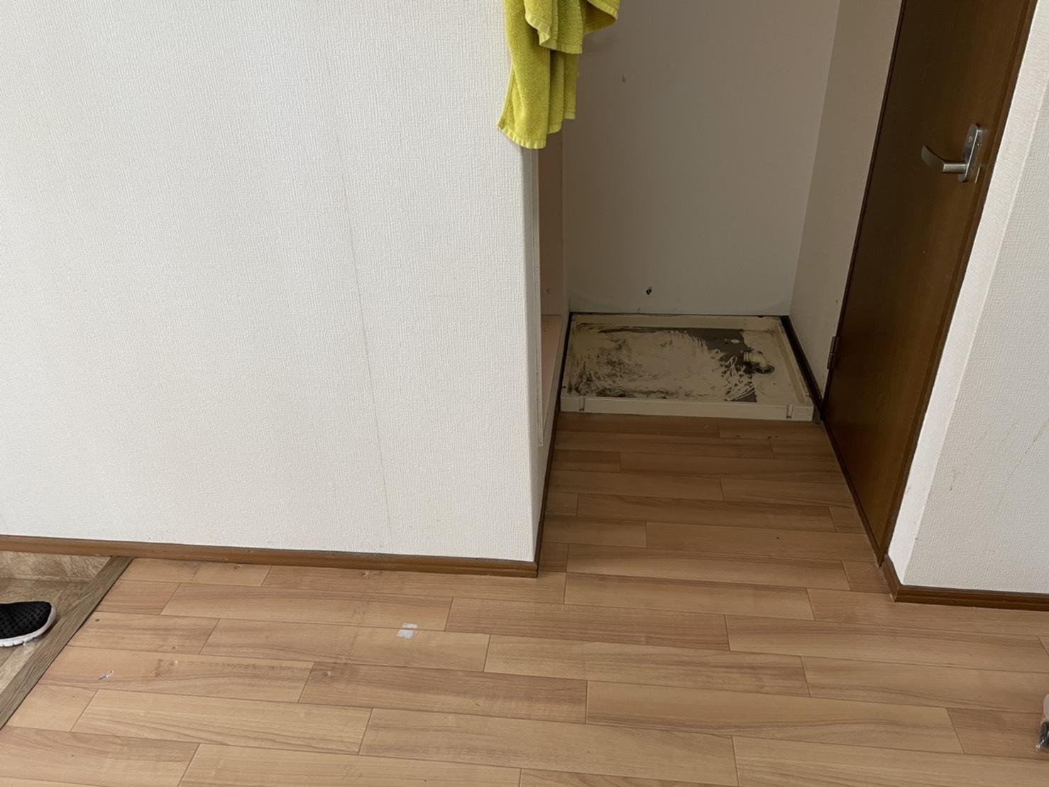 冷蔵庫、洗濯機の回収後