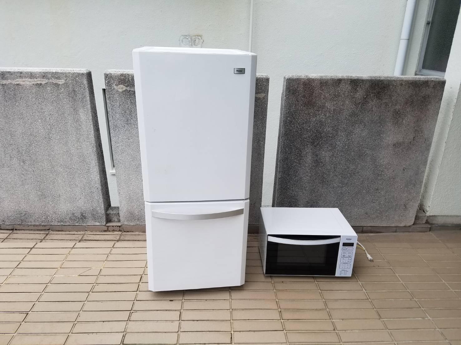 冷蔵庫、電子レンジの回収前